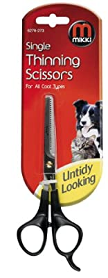 Mikki Grooming Single Thinning Scissors for All Coats