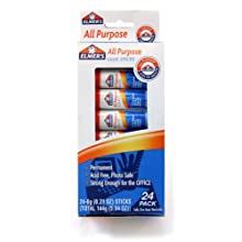 Elmer's All-Purpose Glue Sticks, 0.21 oz Each, 24 Sticks per Pack (E553)