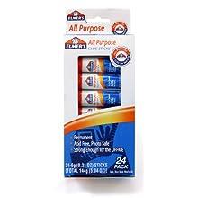 Elmer's All-Purpose Glue Sticks, 0.21 oz Each, 24 Sticks per Pack (E553)