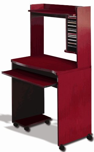 Buy Low Price Comfortable Mobile Computer Cart in Mahogany (B003HTYKCA)