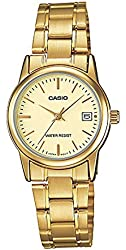 Casio Women's LTPV002G-9A Gold Stainless-Steel Quartz Watch