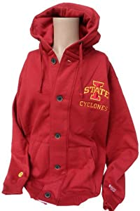 NCAA Iowa State Cyclones Mens Button Hoodie Sweatshirt, Cardinal Gold by Donegal Bay