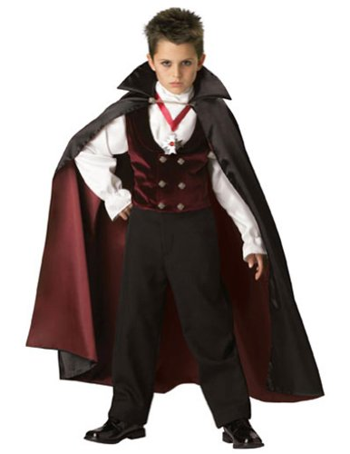 Gothic Vampire Child Size 8 Kids Boys Costume