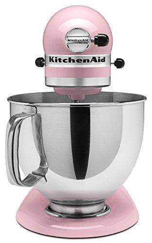 Kitchenaid ksm150pspk 5 qt artisan series with pouring shield pink home garden dining - Pink kitchenaid accessories ...
