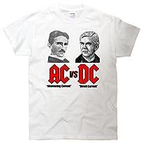 AC VS DC Thomas Edison Nikola Tesla T-Shirt