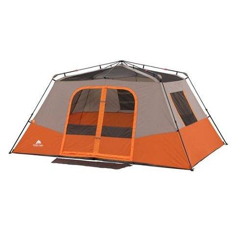 8 Person Instant Cabin Tent : Ozark trail person room instant cabin tent orange tan