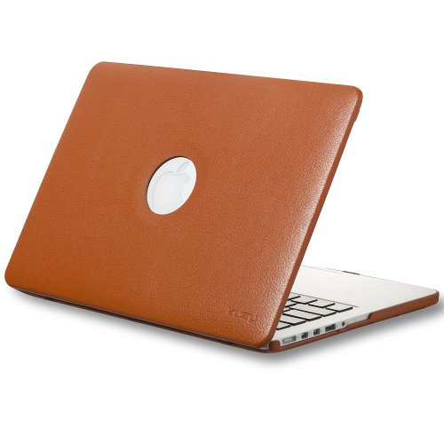 #!  Kuzy - Retina 13-Inch ORANGE LEATHER Hard Case for MacBook Pro 13.3