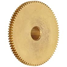 "Brass Pinion Gear 64P 20 Deg Pressure Angle 96Teeth x .250"" Bore x 1.500"" Pitch Dia"