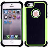 New Hybird Dual Layer Rugged Armor Combo Case Cover For Apple iPhone 5 5S Green