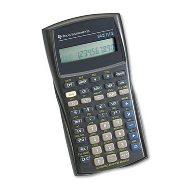 Texas Instruments BAII Plus Financial Calculator, 10-Digit LCD