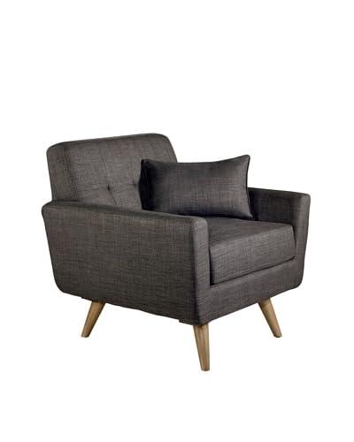 Abbyson Living Boise Tufted Armchair, Gray