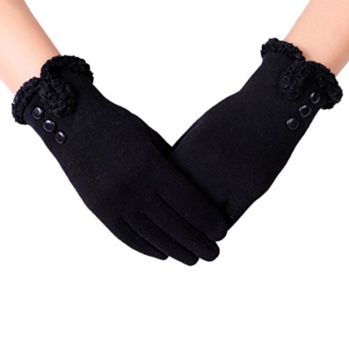 Emubody Womens Fashion Touch Screen Winter Outdoor Sport Warm Gloves (Black) (Guantes De Football compare prices)