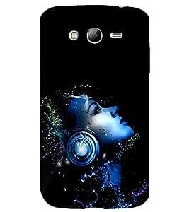 printtech Music Headphone Girl Back Case Cover for Samsung Galaxy Grand Neo / Samsung Galaxy Grand Neo i9060