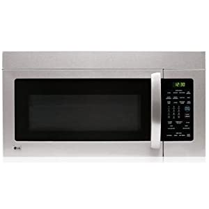 LG LMV1680ST 1.6 cu. ft. Over-the-Range Microwave Oven with 300 CFM Ventilation System, 1000 Cooking Watts, 10 Power Levels, Auto/Rapid Defrost and Auto Reheat: Stainless Steel