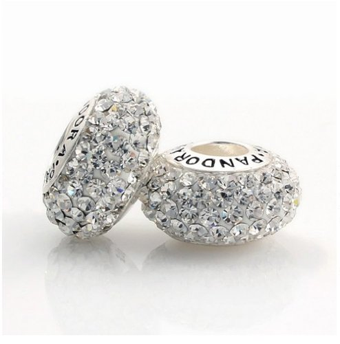 Swarovski Clear Crystal Charm Bead - Genuine