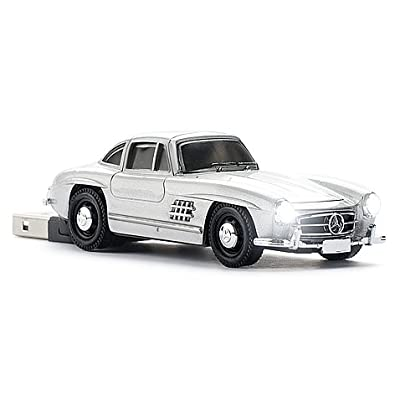 Mercedes Benz 300SL Car USB Memory Stick - 4Gb - Silver from Pawas