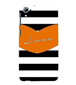 PrintVisa Love Quotes Design 3D Hard Polycarbonate Designer Back Case Cover for HTC Desire 826