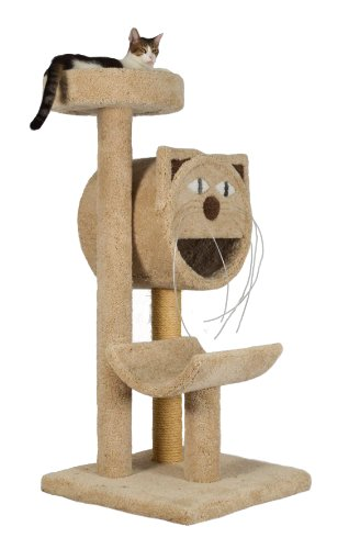 "Molly and Friends ""Molly's Choice"" Premium Handmade 3-Tier Cat Tree with Sisal, Model 283, Beige"