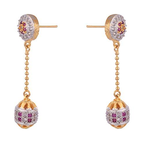 80 off on shining diva gold plated kundan pearl dangle