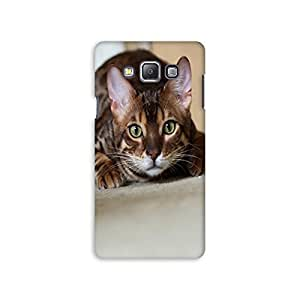 Mikzy Innocent Cat Face Printed Designer Back Cover Case for Samsung A7 (Multicolour)
