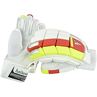 Anthem Gilli Cricket Batting Gloves (Full Size, White)