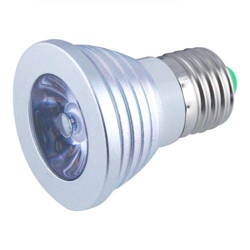Jambo 10Pc High Power 100-240V 3W E27 16 Colorful Flashing Led Rgb Magic Lamp Spotlight Bulb Green Light Source With 24Keys Ir Remote Control