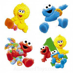 Sesame street 4 pack wall stickers amazon co uk toys amp games