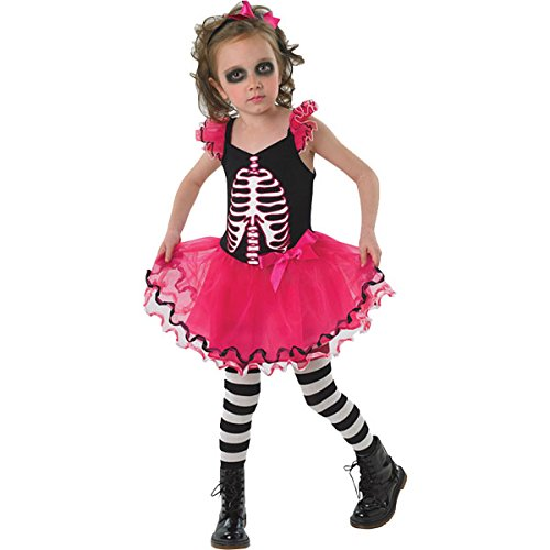 Skull Dress Costume Small- Horror Fancy Dress Outfit Halloween Party