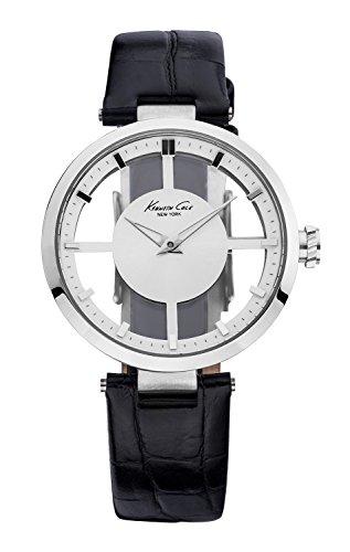 kenneth-cole-kc2649-transparency-montre-femme-quartz-analogique-cadran-argent-bracelet-cuir-blanc
