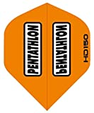 3 Sets of Standard Size Pentathlon HD150 Dart Flights Orange