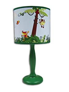 Amazoncom fisher price rainforest jungle stripe lamp for Jungle floor lamp for nursery