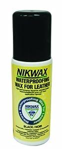 Nikwax Waterproofing Liquid Black Wax for Leather, 4.2 fl. oz