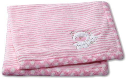 Pink Fleece Baby Blanket front-998721