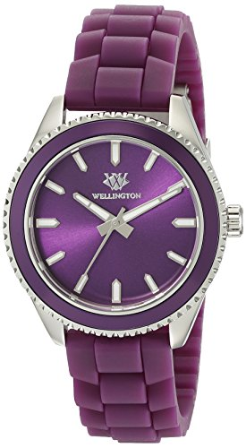 Wellington Karamea Women's Quartz Watch with Purple Dial Analogue Display and Purple Silicone Strap WN508-190A