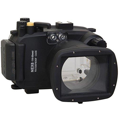 Polaroid ダイビング定格 完全防水 水中カメラハウジングケース (Sony NEX 6 18~55mmレンズ SLRカメラ用)