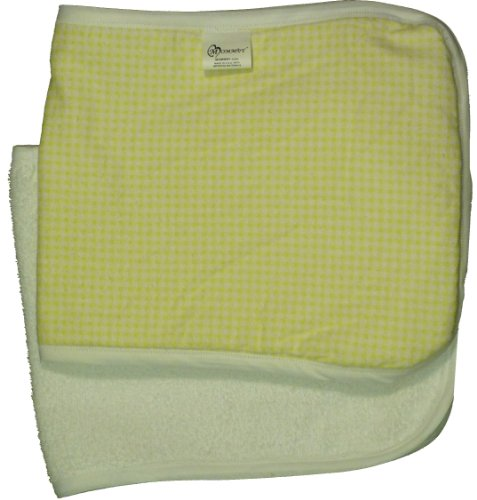 MOMMBY Burp Cloth Blanket - 100% Cotton Pack of 2, Yellow Gingham