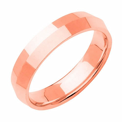 18K Rose Gold Traditional Knife Edge Women'S Wedding Band (5Mm) Size-3
