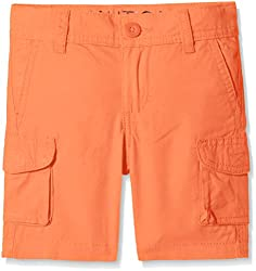 Nautica Kids Boys' Shorts (N265102Q633_Coral sun_2 - 3 years)