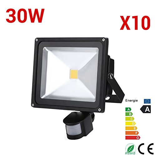 10X 30W LED Floodlights IP65 Spot Light Cool White Outdoor Garden Security Lamp