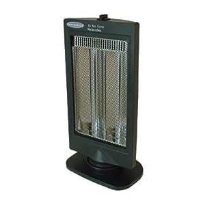 Soleus Air HE08-R3-21, Oscillating Reflective Heater, Black