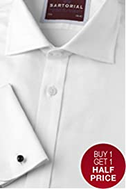 Savile Row Inspired Sartorial Slim Fit Pure Cotton Weave Shirt