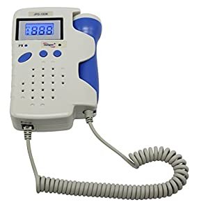 BabyMad Fetal Doppler Backlit LCD Display Waterproof Probe Batteries, Recording Cable and Ultrasound Gel included
