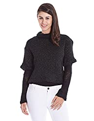 bYSI Womens Wool Sweater (1410353_Black_12)
