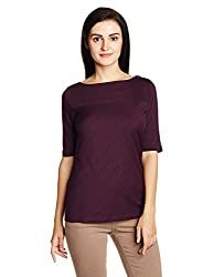 Nautica Women's Body Blouse Top (NT539K2245PA_Aurora Purple_S)