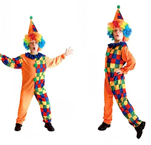 Purplebox Children Cosplay Halloween Costume Masquerade Clown Suit