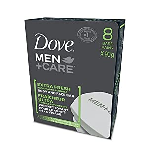 Dove Men +Care Extra Fresh Invigorating Formula Body & Face Bar 8x90g
