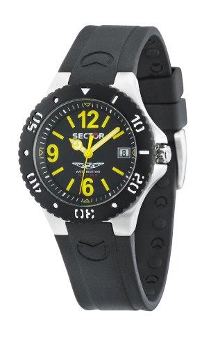 Sector R3251111001 - Reloj analógico de cuarzo unisex con correa de caucho, color negro
