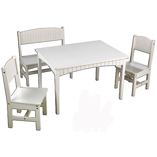 Stupendous Kidkraft Nantucket Long Table With 2 Chairs And A Bench Machost Co Dining Chair Design Ideas Machostcouk