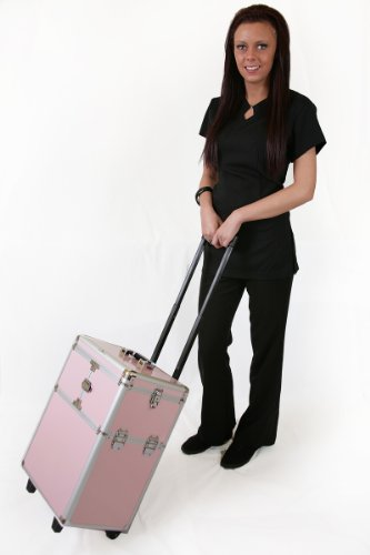 Professional Aluminium Framed Hairdressing, Make up, Beauty Therapist, Nail Technician Trolley Case 106p