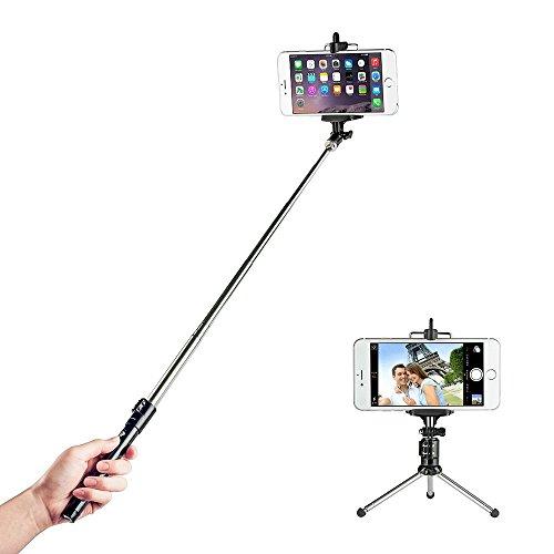 Selfie-Stick-TaoTronics-con-Bluetooth-Wireless-Remote-Shutter-Aggiustabile-Treppiede-Monopiede-per-iPhone-4-5-e-6-e-6Plus-Samsung-Galaxy-Note-LG-HTC-e-altri-Smartphone-con-sistema-Android-e-IOS